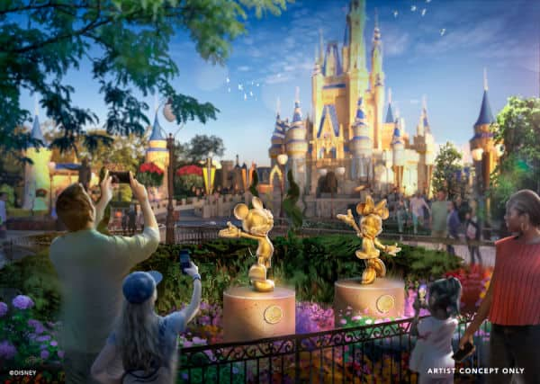 Golden character sculptures to debut at Magic Kingdom during Disney's 50th Anniversary