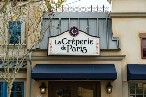 Store front of La Creperie de Paris at Epcot
