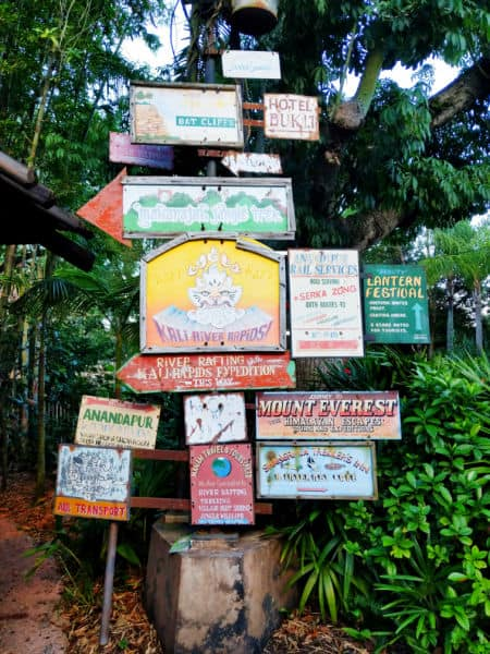 Signs in Asia at Disney's Animal Kingdom
