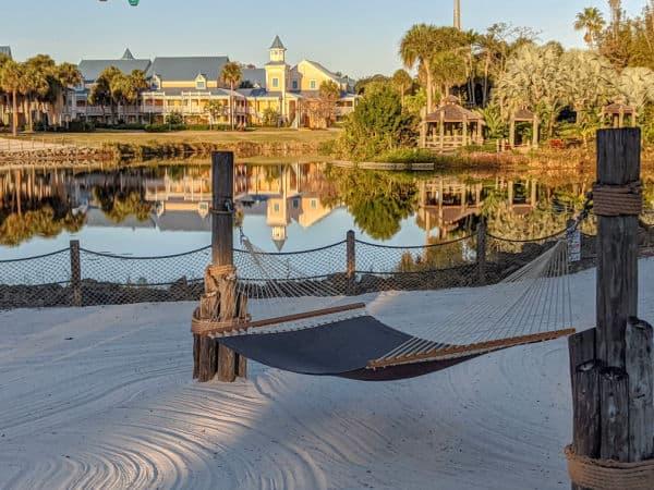 Hammock on the beach at Disney's Caribbean Beach Resort