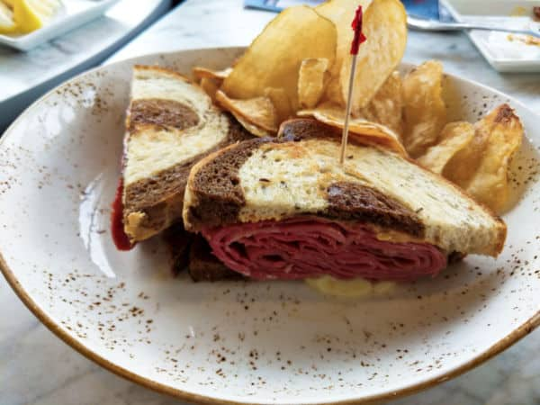 Rueben Sandwich at The Plaza Restaurant