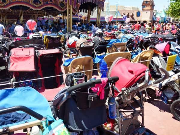 Stroller parking at Disney World