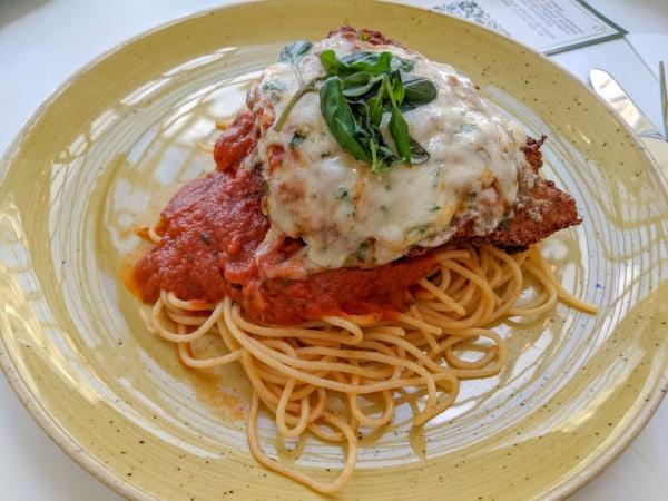 Chicken parmigiana at Tony's Town Square restaurant