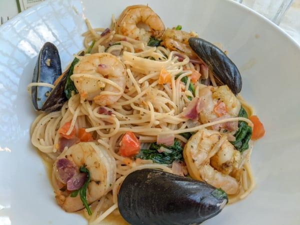 Scampi Pasta at Tony's Town Square restaurant at Magic Kingdom