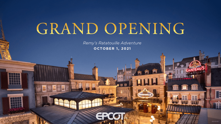 Remy's Ratatouille Adventure grand opening