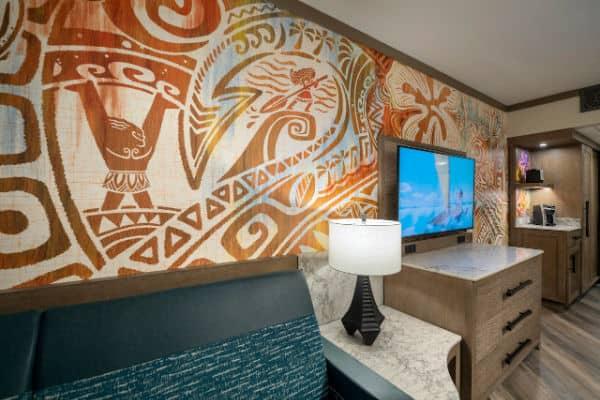 Wall paper design for new Polynesian Resort room refurbishment at Disney World