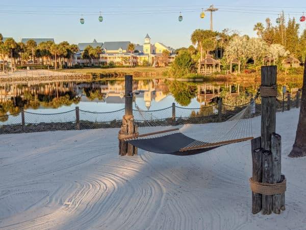 Hammock view at Disney's Caribbean Beach Resort