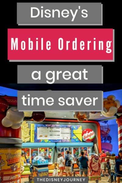 Disney mobile ordering pin image