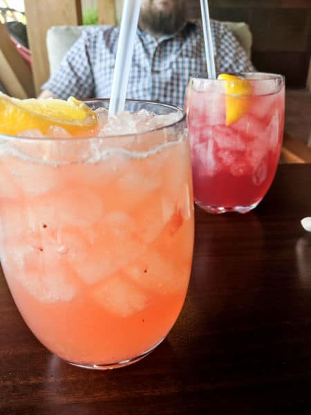 Two drinks from the Geyser Point Bar and Grill Menu at Disney World