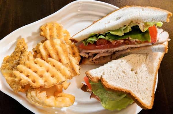Smoked Turkey Sandwich from Geyser Point Menu at Disney World
