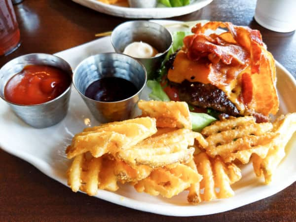 Bison Burger with no bun from the Geyser Point menu