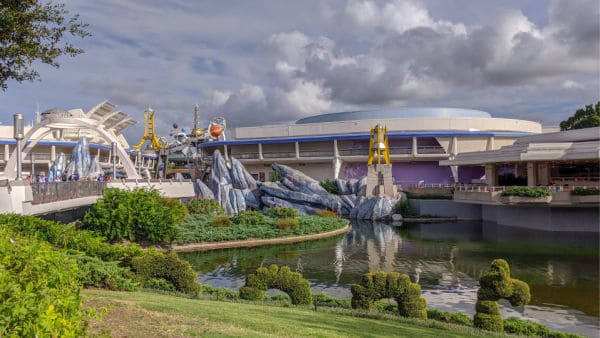 Tomorrowland entrance at Magic Kingdom