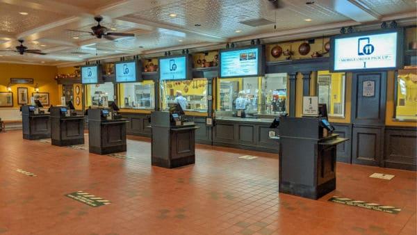 Order pickup stations at Regal Eagle Smokehouse