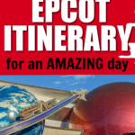 Epcot itinerary pin image with photo of Mission:Space entrance