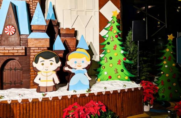 Cinderella gingerbread display at Disney Contemporary Resort
