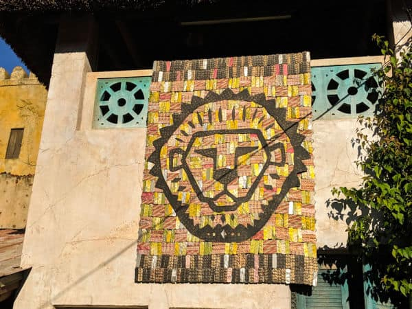Lion King tapestry at Animal Kingdom