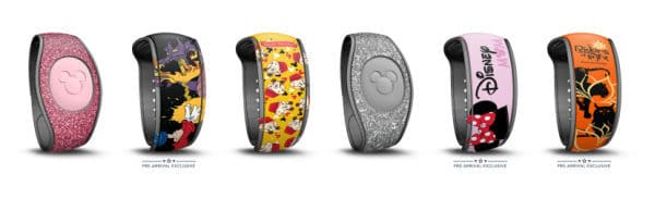 Screenshot of Disney MagicBand selections from My Disney Experience