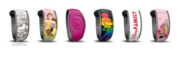 Disney magicbands screenshot from My Disney Experience
