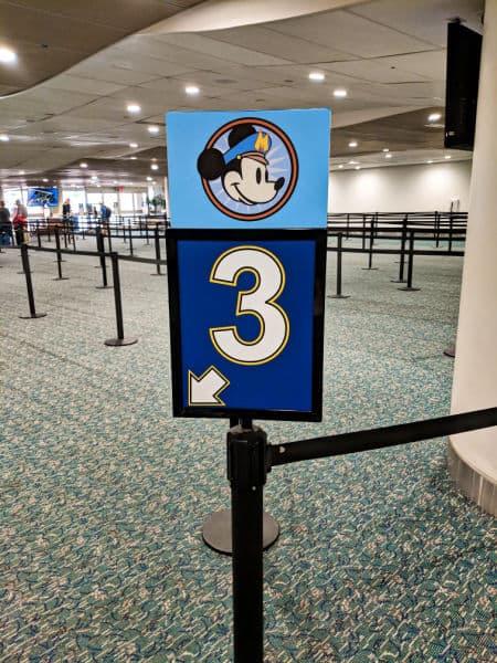 Disneys magical express sign at airport