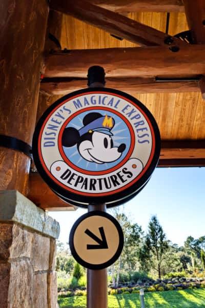 Disney Magical express loading area at Disney resort
