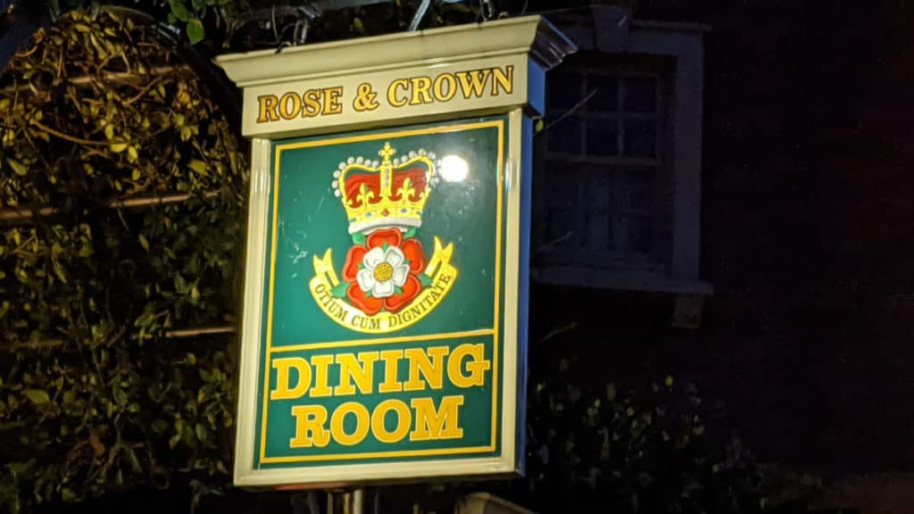 Rose and Crown Pub sign at Epcot
