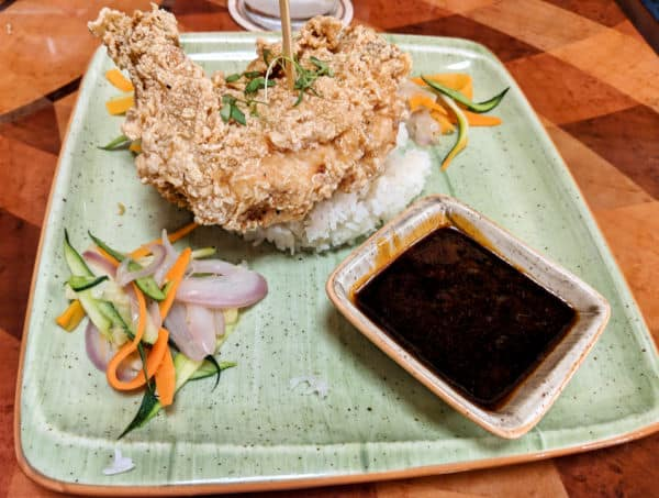 Skipper Canteen Tastes Like Chicken - Because it is! Fried chicken