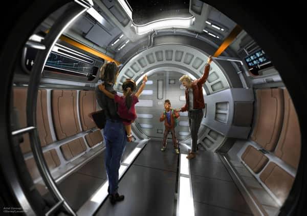 Star Wars Galactic Starcruiser launching pod artistic rendering