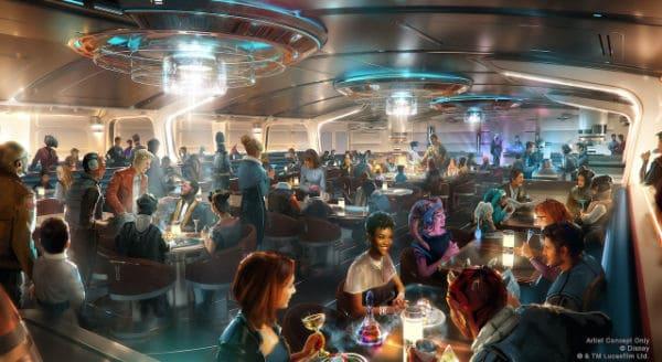Crown of Cornellia dining room on Star Wars Galactic Starcruiser