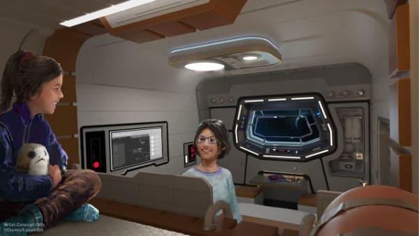 Passenger cabin artistic rendering for Star wars hotel Disney world