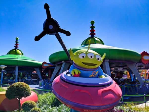 Green alien at Toy Story Land in Hollywood Studios