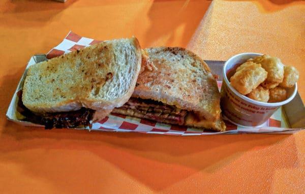BBQ Brisket melt sandwich at Woody's Lunch Box