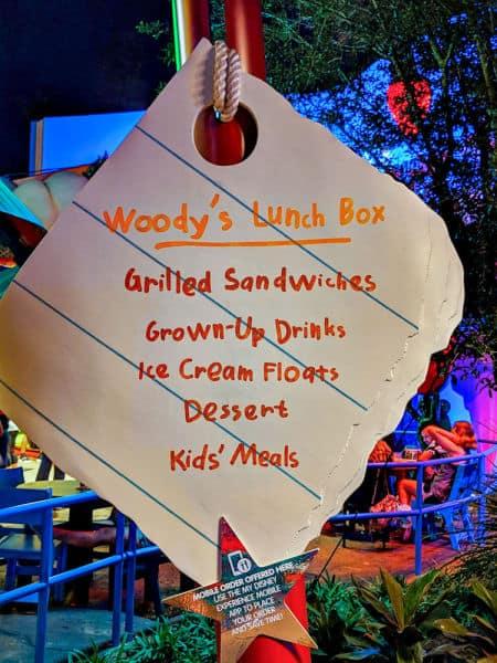 Wood's Lunch Box menu decor item