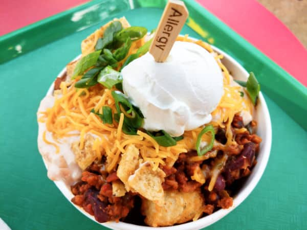 Gluten free Totchos at Woody's Lunch Box