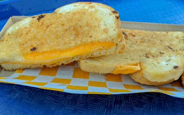 Grilled Three Cheese Sandwich at Woody's Lunch Box