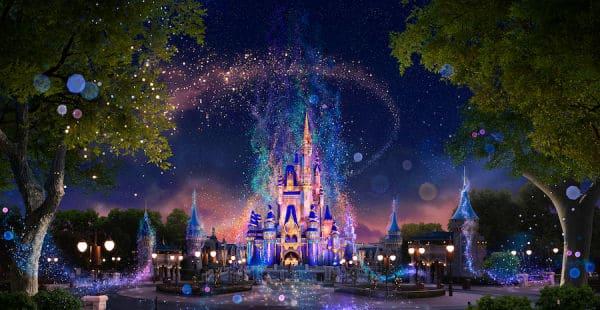 Beacons of Light on Cinderella Castle at Magic Kingdom