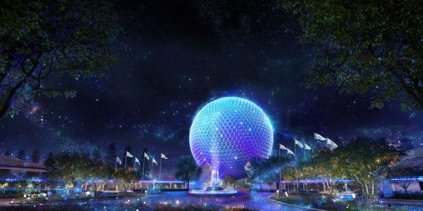 Epcot Beacon of Magic on Spaceship Earth