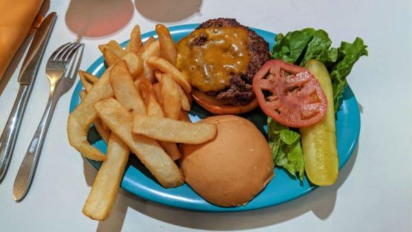 Angus Beef Burger at Beaches and Cream Restaurant Disney World