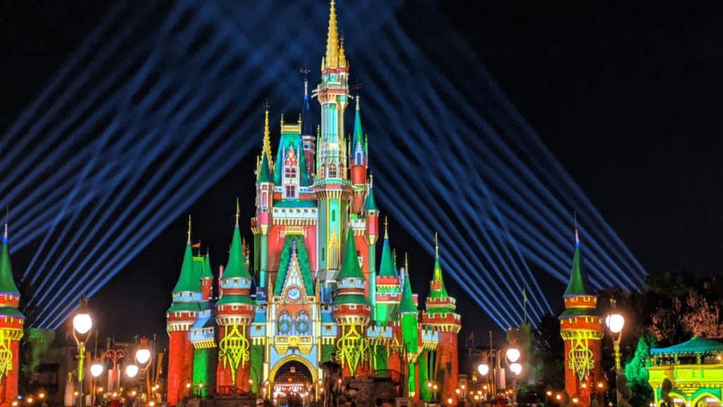 Cinderella Castle Christmas projections