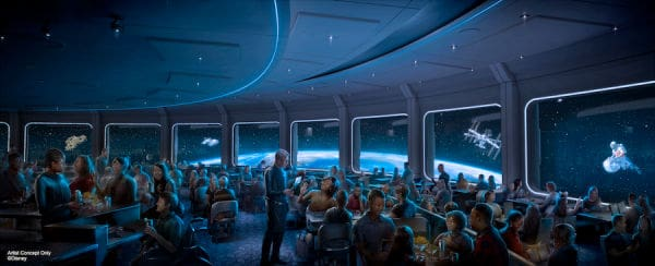 Dining area in Epcot's Space 220 restaurant