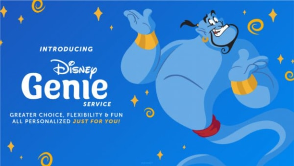 Disney genie app announcement graphic